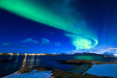 Nordlichter im Nordpolarmeer